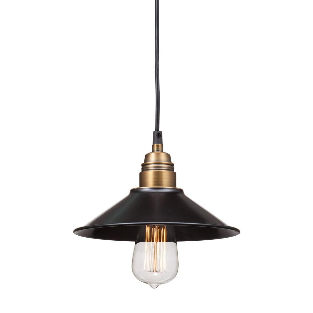 ZUO Amarillite Antique Black Gold and Brass Ceiling Lamp.