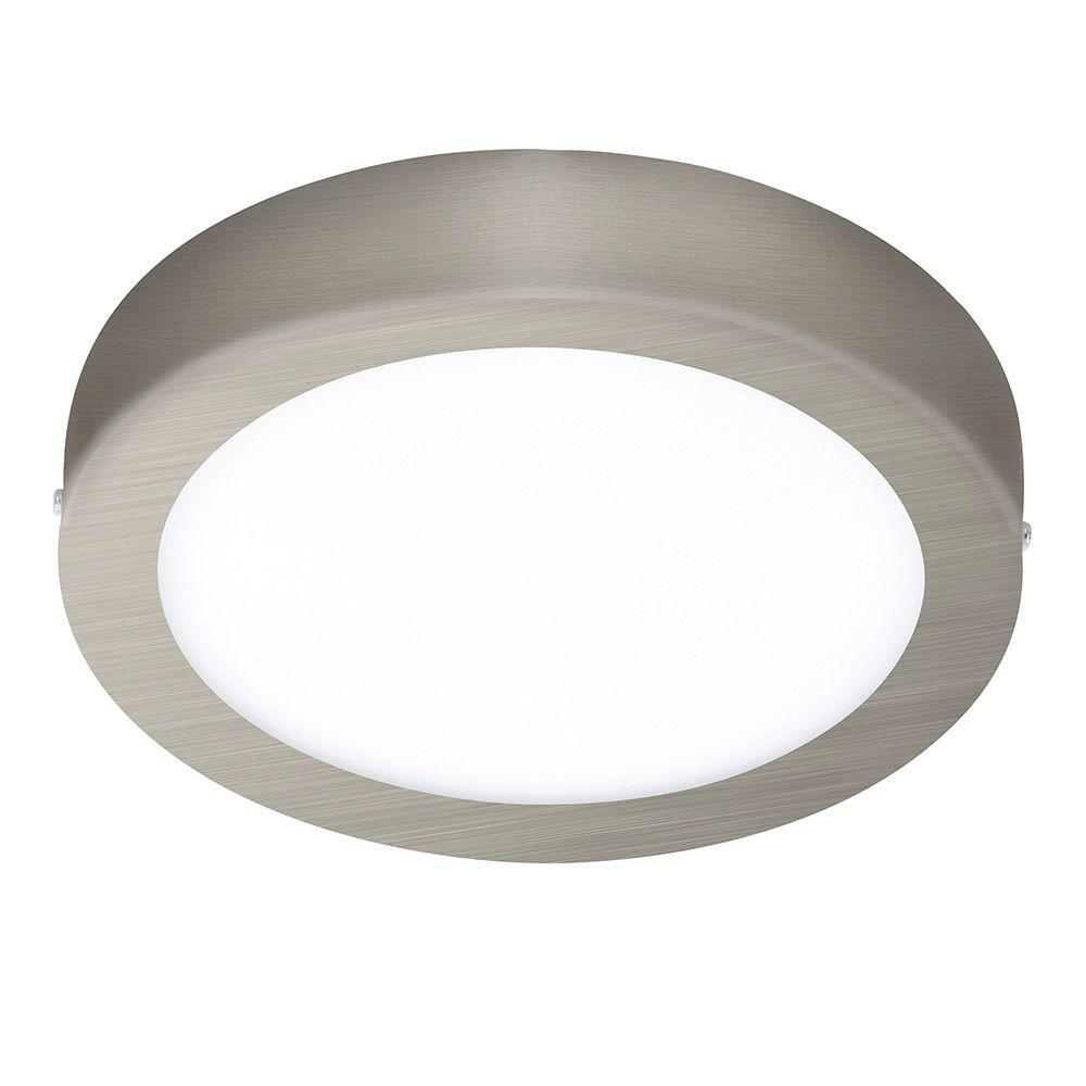 EGLO Fueva 1 Matte Nickel Integrated LED Ceiling Light.