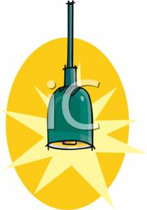 Colorful Cartoon of a Ceiling Light Fixture.