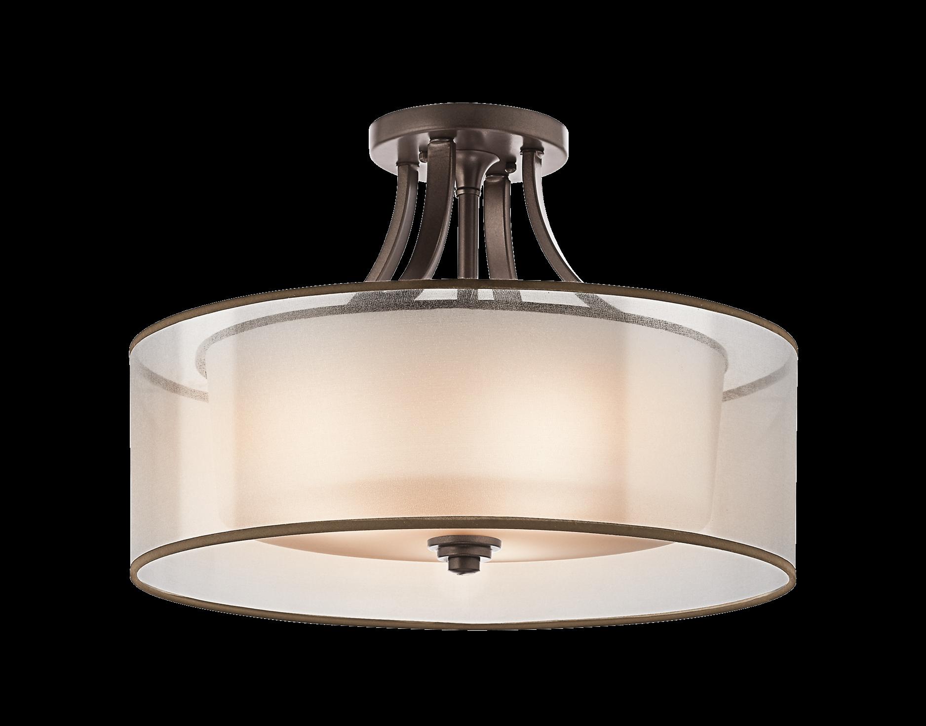 Lacey 4 Light Semi Flush Ceiling Light.