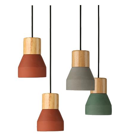 Replica Specimen Cement Wood Pendant Light.