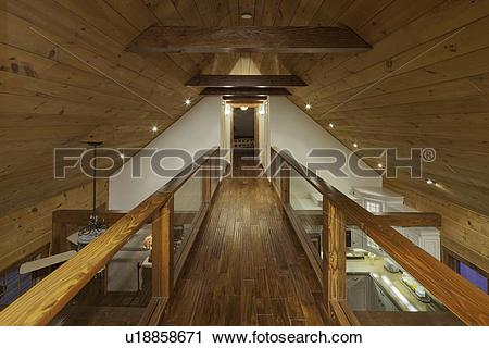 Stock Photography of Timber Mezzanine walkway u18858671.