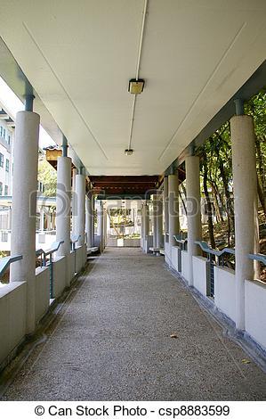 Stock Photographs of Walkway in school csp8883599.