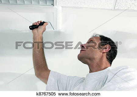 Stock Image of Painting office ceiling k8767505.