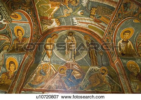Picture of Religious ceiling paintings at Goreme Open Air Museum.