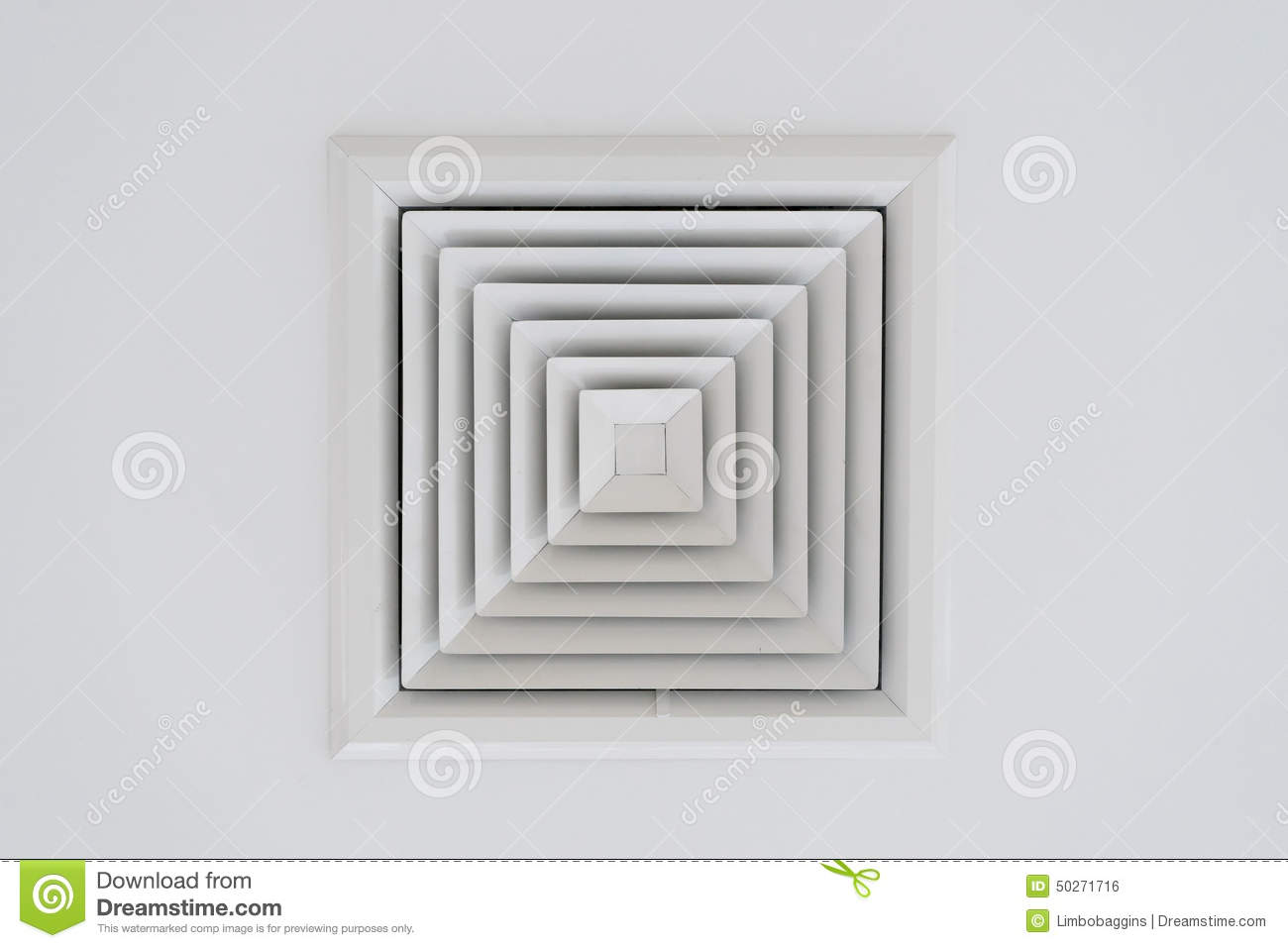 Ceiling Ventilation Of Air Condition Stock Photo.