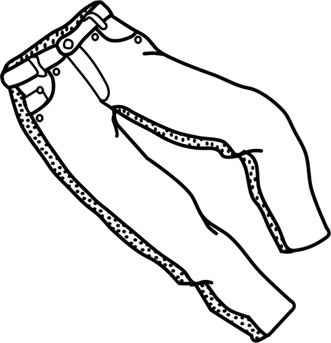 Trousers lineart vector graphics.