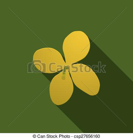 Clip Art Vector of Yellow celandine on a green background. eps10.