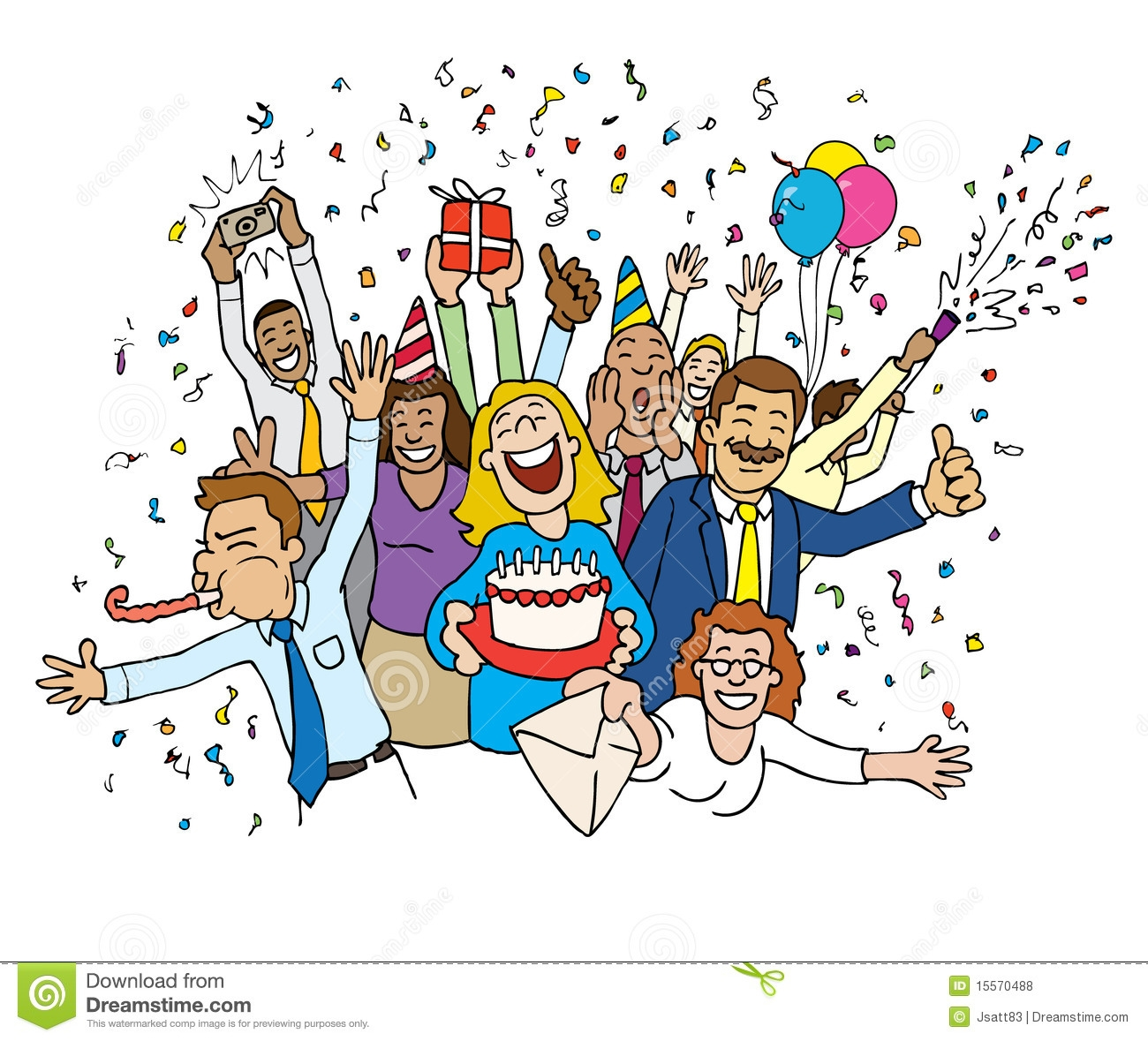 Office celebrate clipart.
