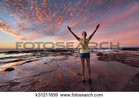Stock Photograph of Wellness wellbeing celebrate life k31211659.