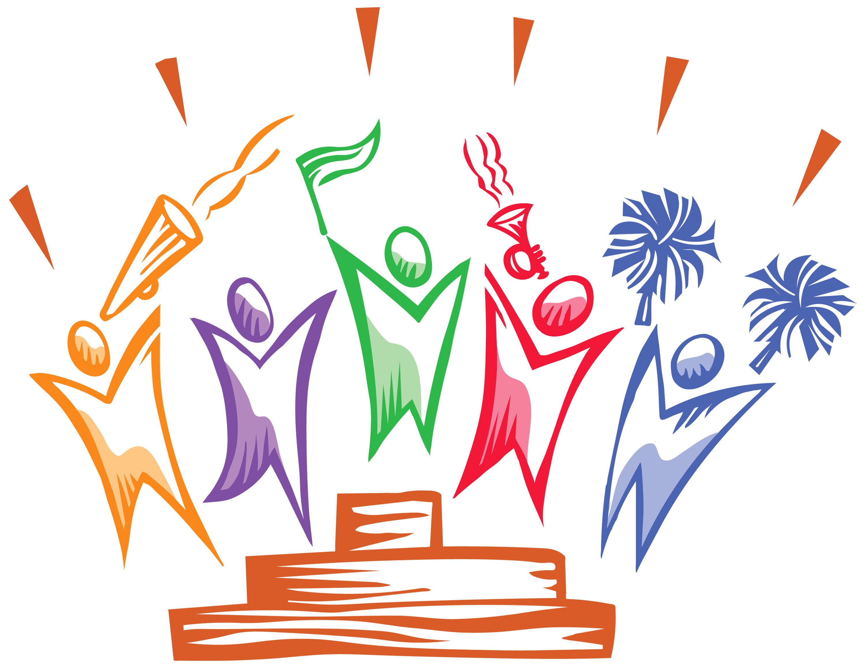 Celebrating success clipart.