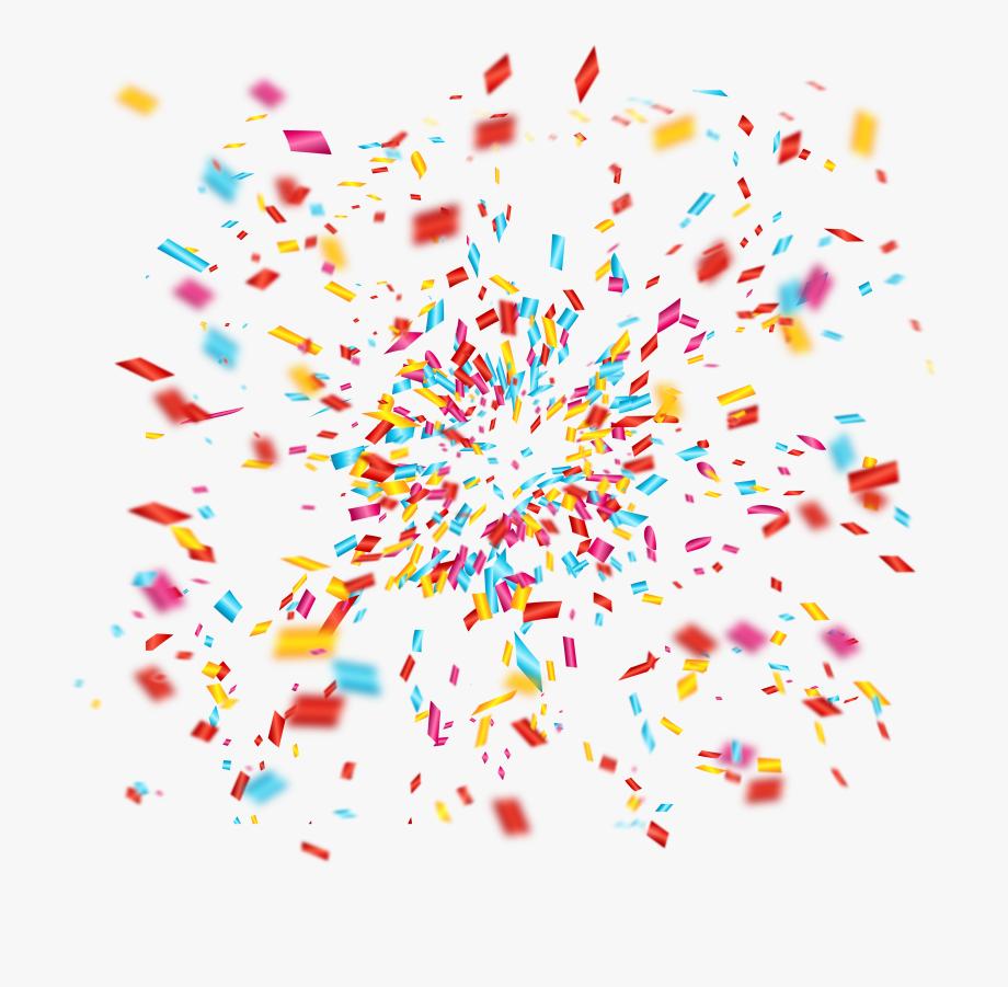 Confetti Clip Art Celebrate Fireworks Transprent.