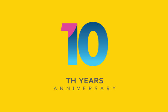 10th Anniversary celebration logo Design.