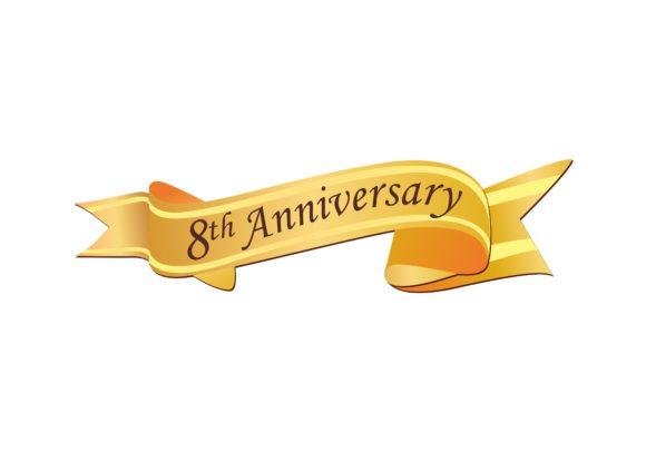 Anniversary 8th celebration logo.