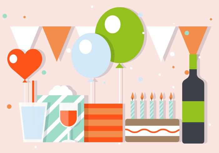 Party And Celebration Vector Illustration.