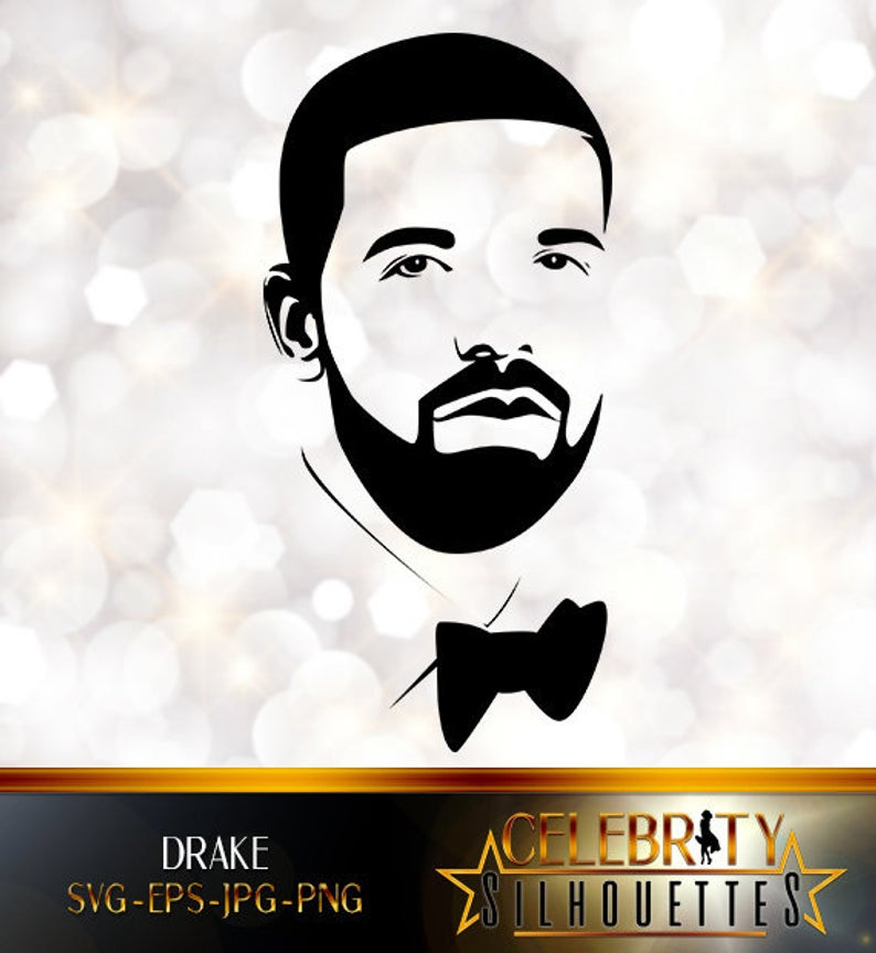 Drake Graham Silhouette, artist silhouettes, celebrity silhouette, famous  people.