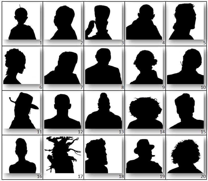 fun celebrity silhouette game.