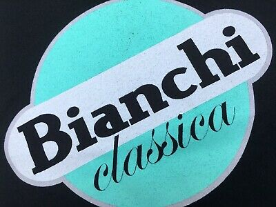 QUALITY Bianchi black / Celeste Green Bicycle Logo Cycling Champion T.