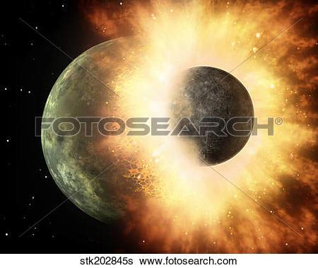 Stock Illustration of Artist's concept of a celestial body.