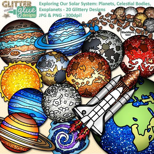 Solar System Clip Art for Science {Planets, Earth, Galaxies.