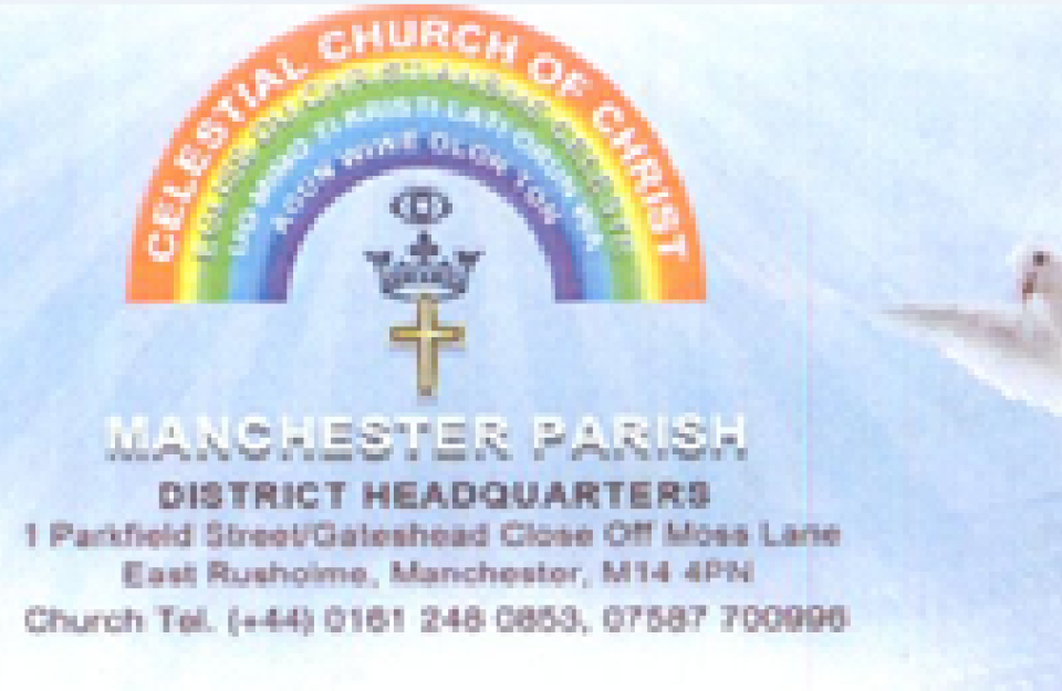 CELESTIAL CHURCH OF CHRIST.MANCHESTER1.