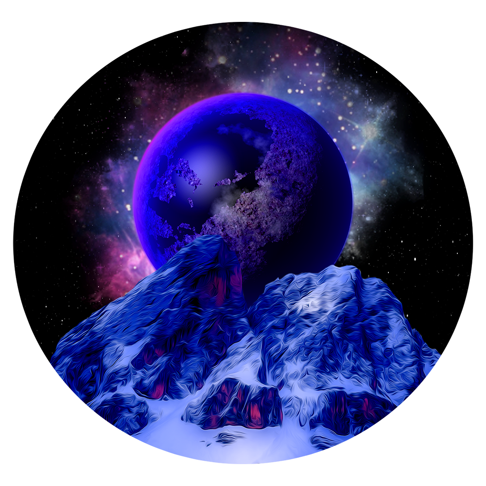 Starry Nebula Celestial Round Transparent PNG Clipart.