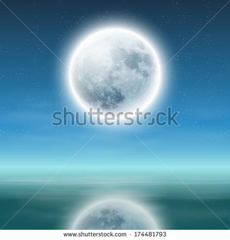 Full Moon Beach Stock Photos, Royalty.