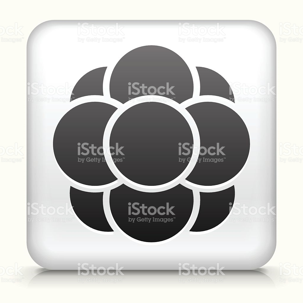 Square Button With Cell Growth stock vector art 531756887.