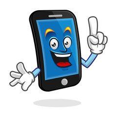 Got an idea smartphone character, vector of cellphone mascot.
