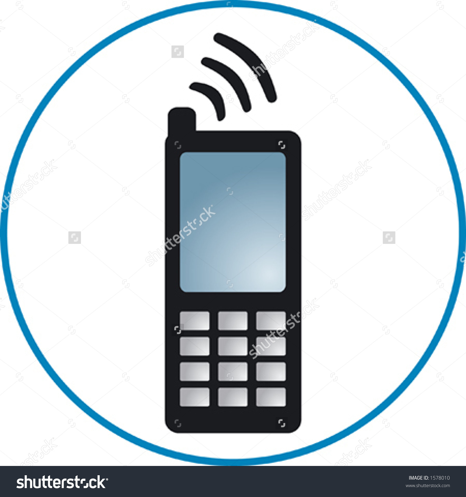 Cellphone Clipart Stock Vector 1578010.