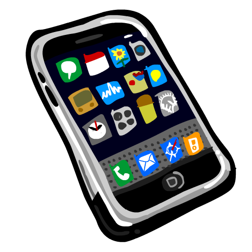 Iphone Cell Phone Clipart.