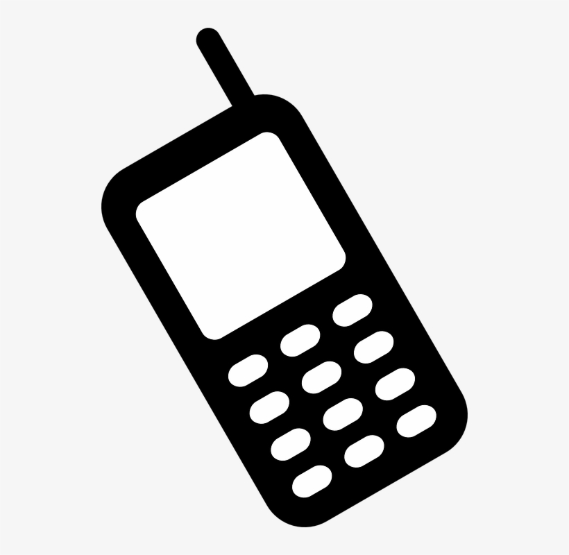 Cell Phone Clipart Black And White.