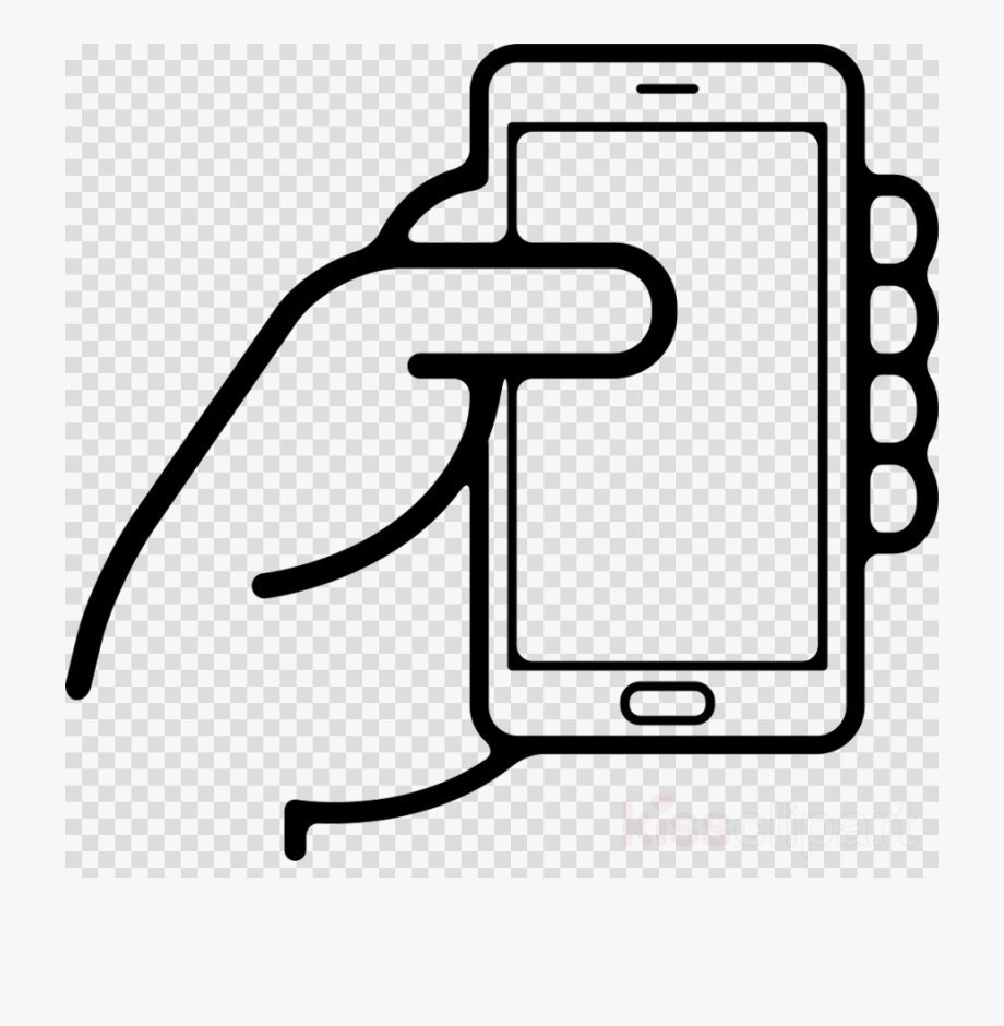 Holding Cell Phone Clipart.