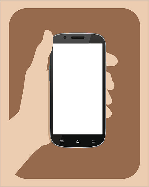 Hand Holding Phone Clipart.