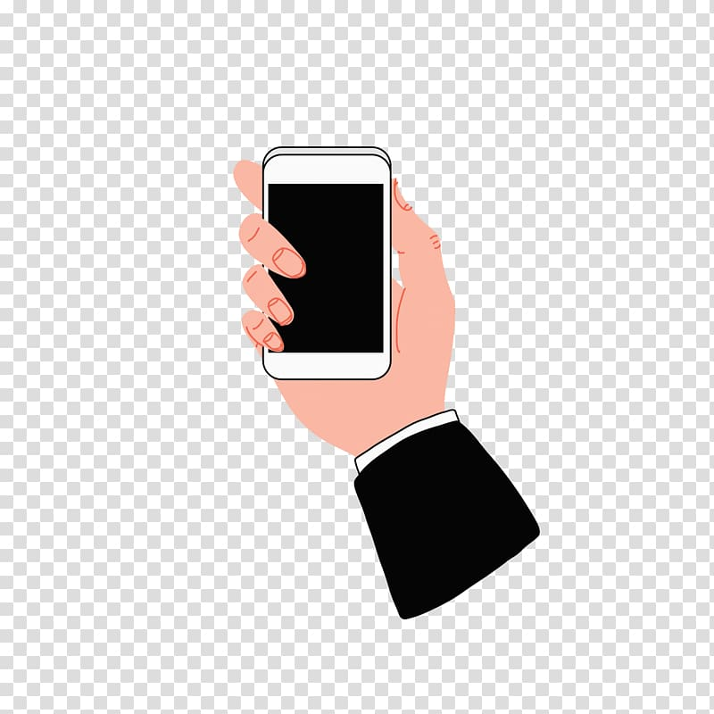 Telephone Hand, Cell phone transparent background PNG.