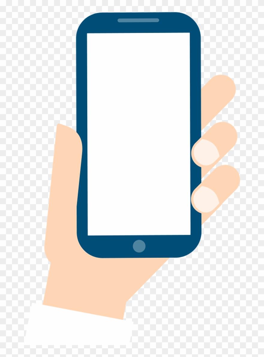 Mobile Phone Smartphone Cartoon Hand Hd Image Free.