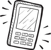 2091 Cell Phone free clipart.