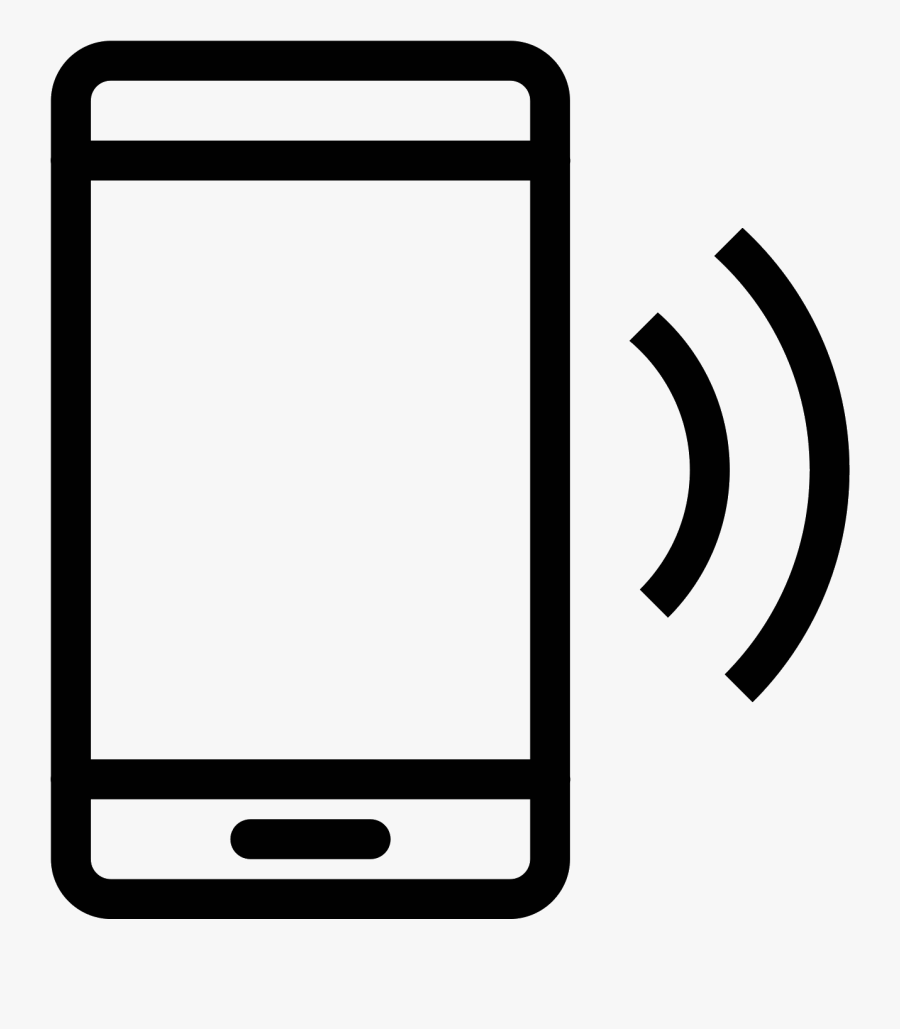 Png Black And White Ringing Cell Phone Clipart.