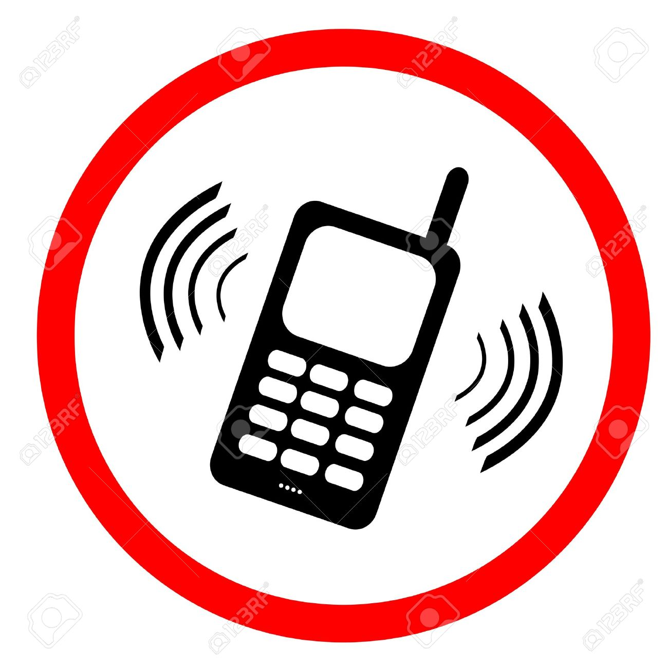 No Mobile Phone Sign : Please Use Vibrate Or Silent Mode Stock.