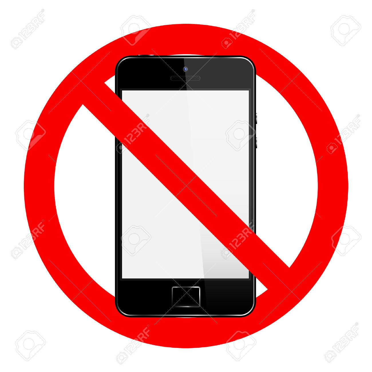 No Cell Phone Sign Royalty Free Cliparts, Vectors, And Stock.