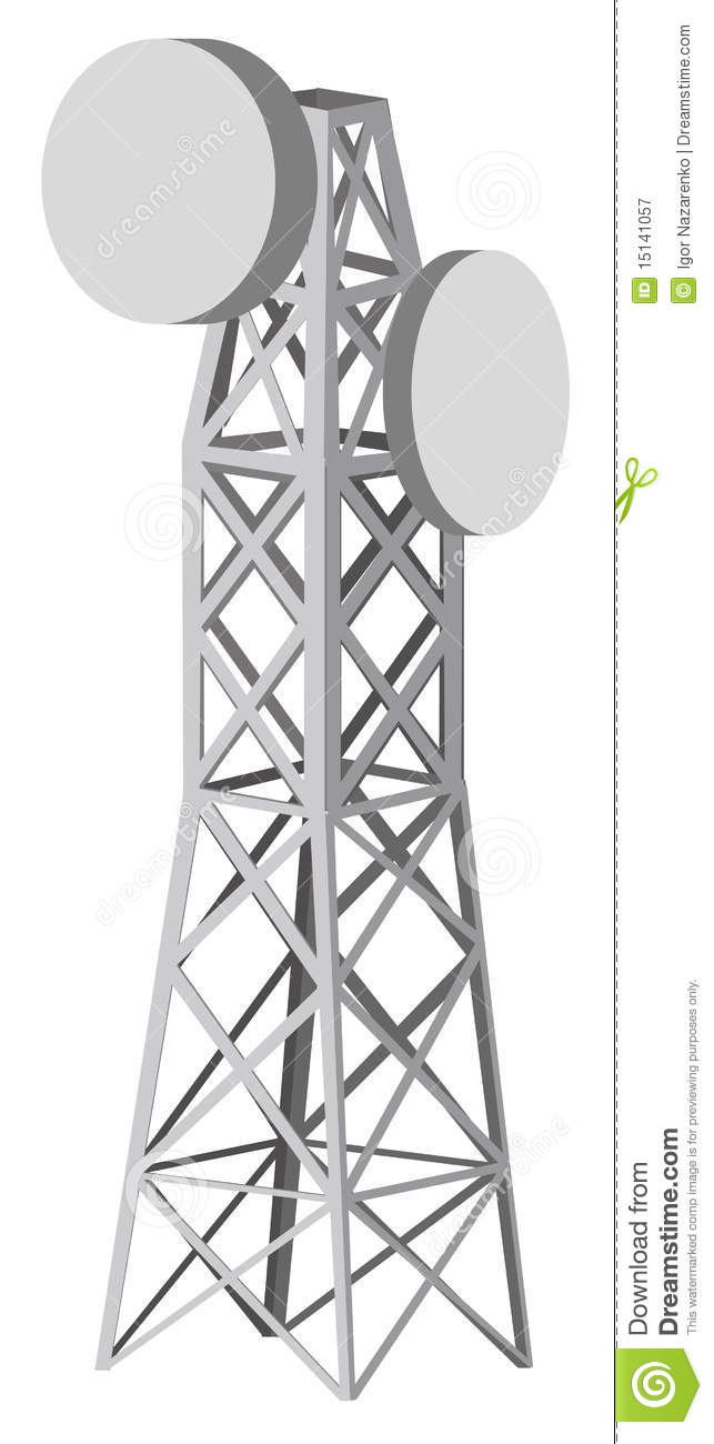 Microwave tower clipart.