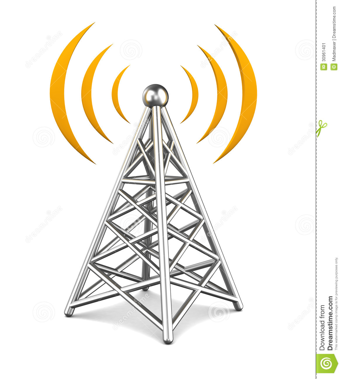 Mobile communication towers clip art.