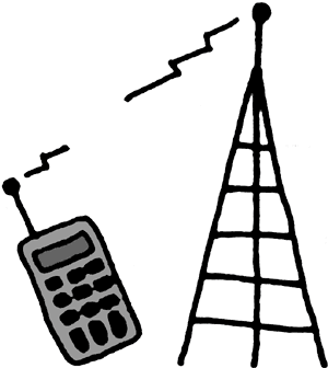 Cell tower clip art.