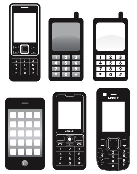 Clipart for cell phones.