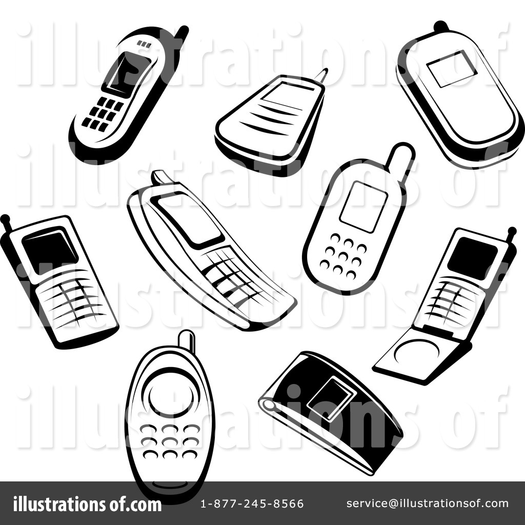Cell Phones Clipart #1064420.