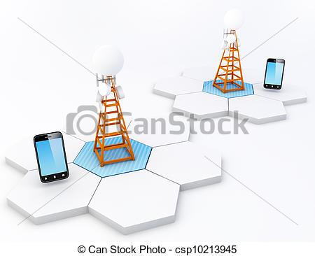 Drawing of Cell site.
