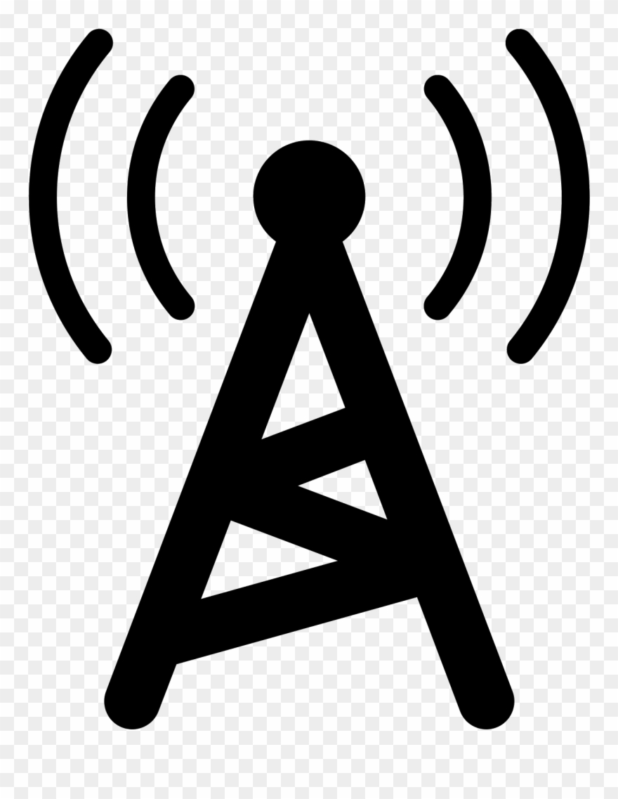 Radio Tower Filled Icon.