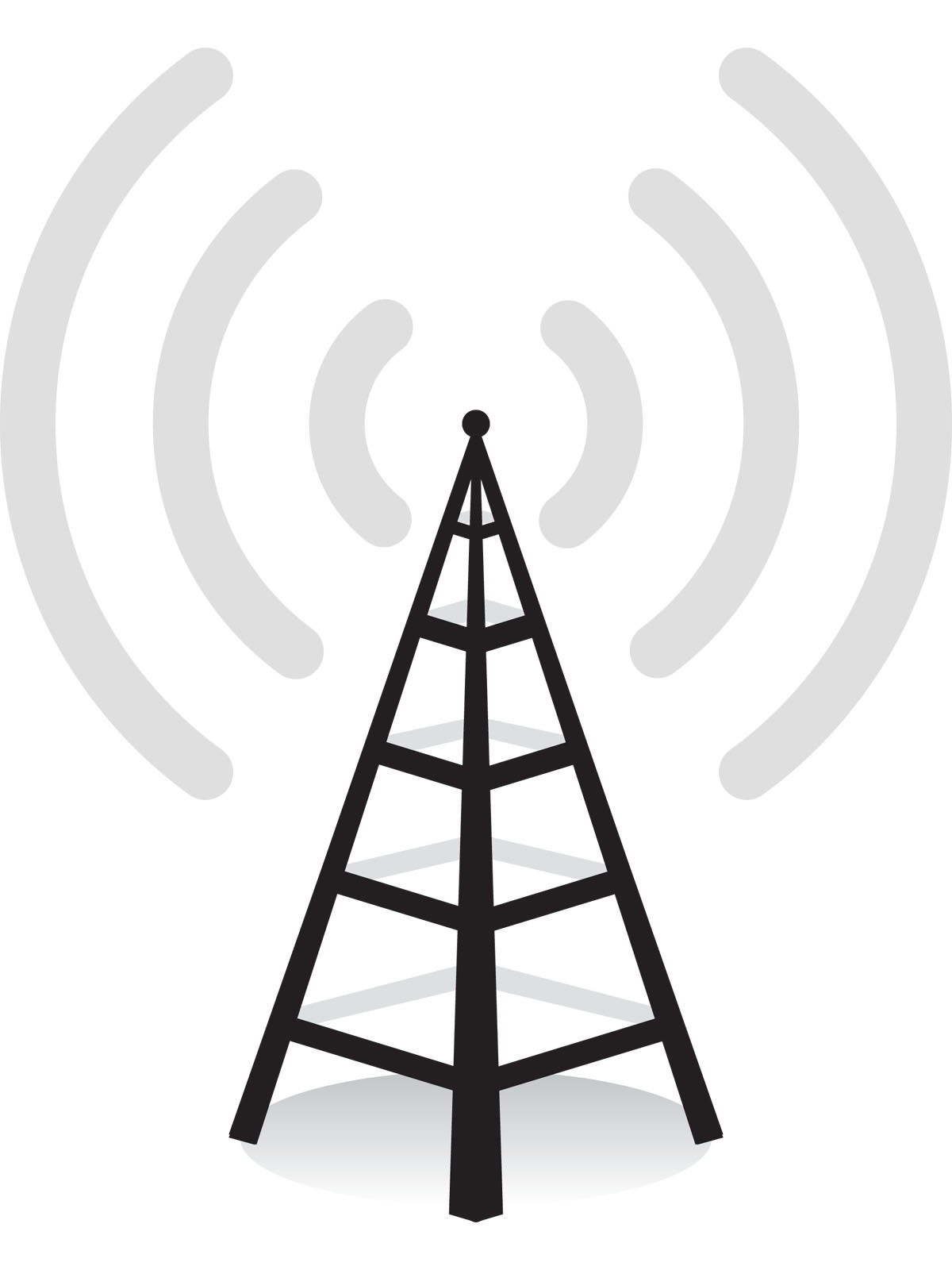 Wireless tower clip art.