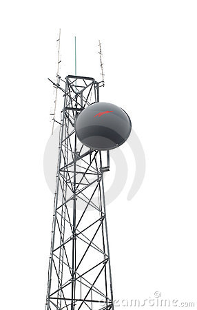 Cell Phone Antenna Tower Isolated White Stock Photos, Images.