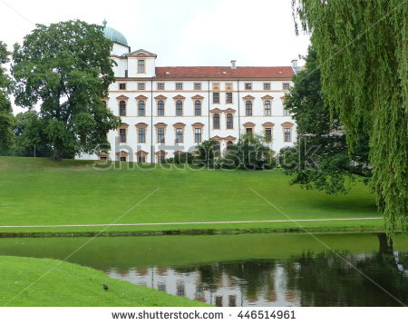 Manor House Denmark Clausholm Castle Park Stock Photo 34884478.